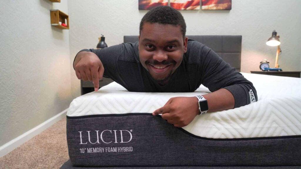 lucid gel memory foam hybrid mattress review