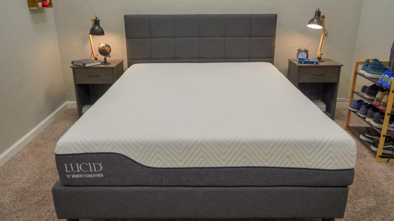 lucid memory foam hybrid mattress profile image