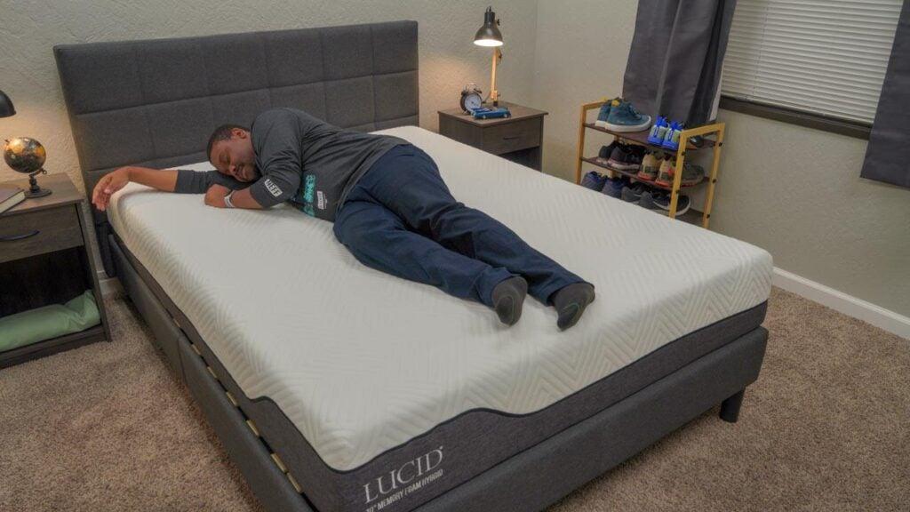 lucid memory foam hybrid mattress side sleepers