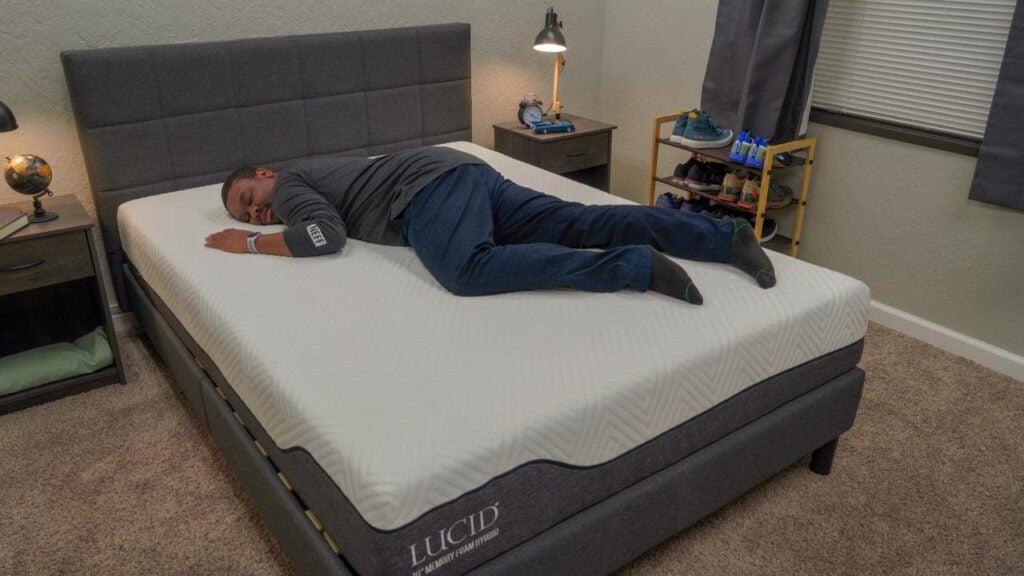 lucid memory foam hybrid mattress review