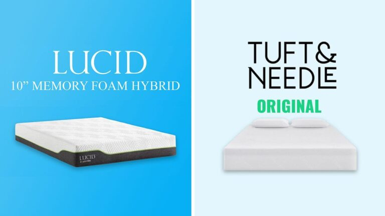 Lucid Hybrid vs Tuft and Needle Mattress