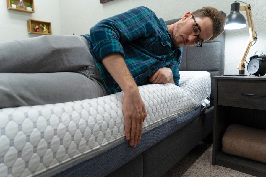 muse mattress review edge support for couples