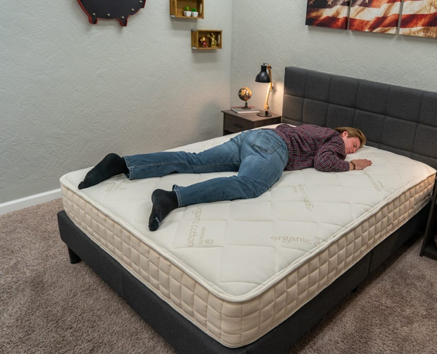 Naturepedic Mattress Review Stomach Sleeper Image