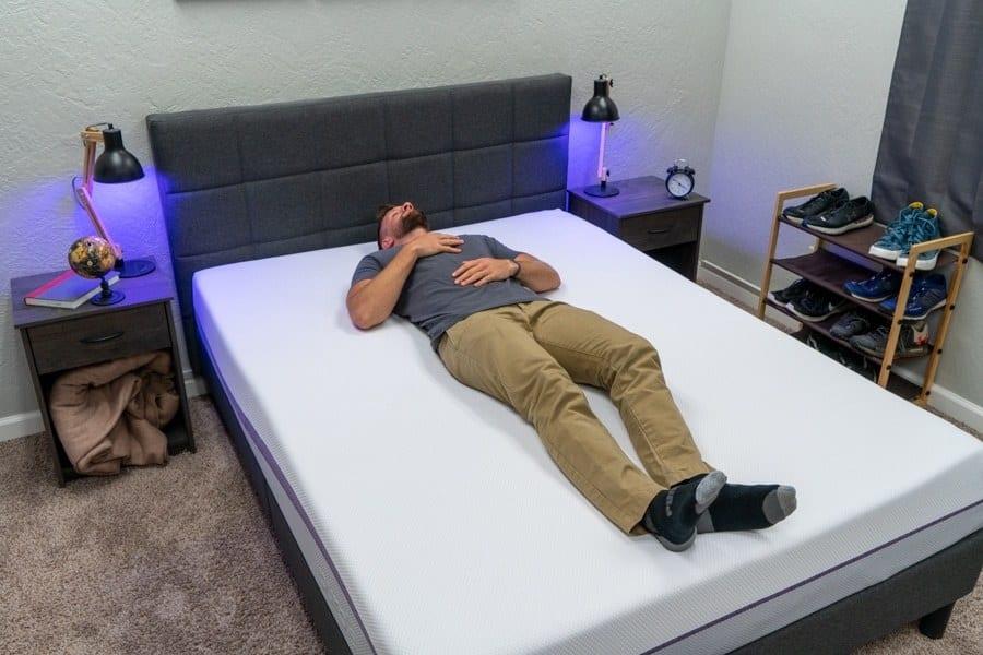 purple mattress review back sleeper