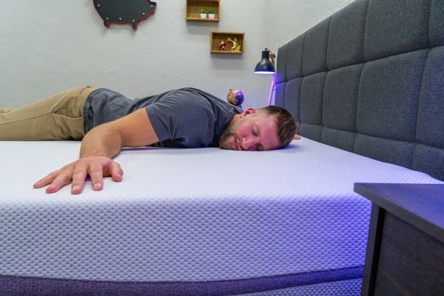 purple mattress review stomach sleeper