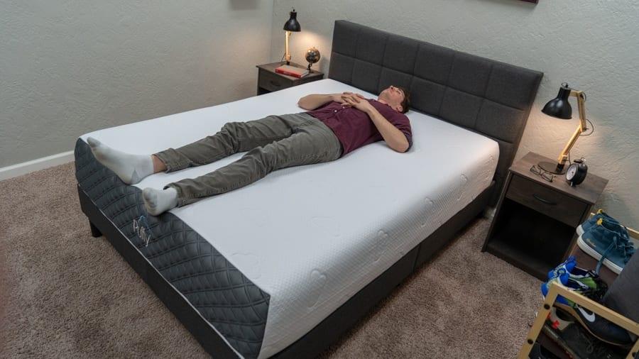 puffy lux mattress review back sleeper
