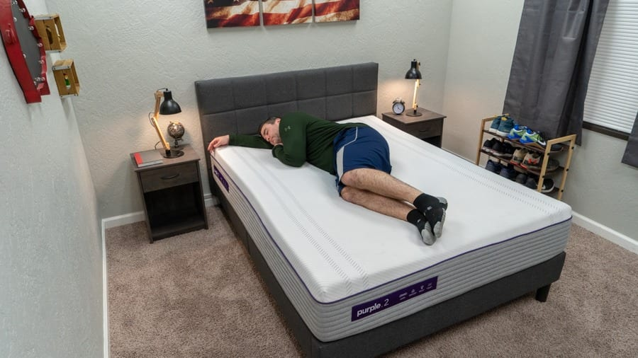 purple 2 mattress review heavy sleeper