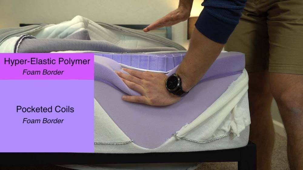 new purple 4 mattress review construction and layers