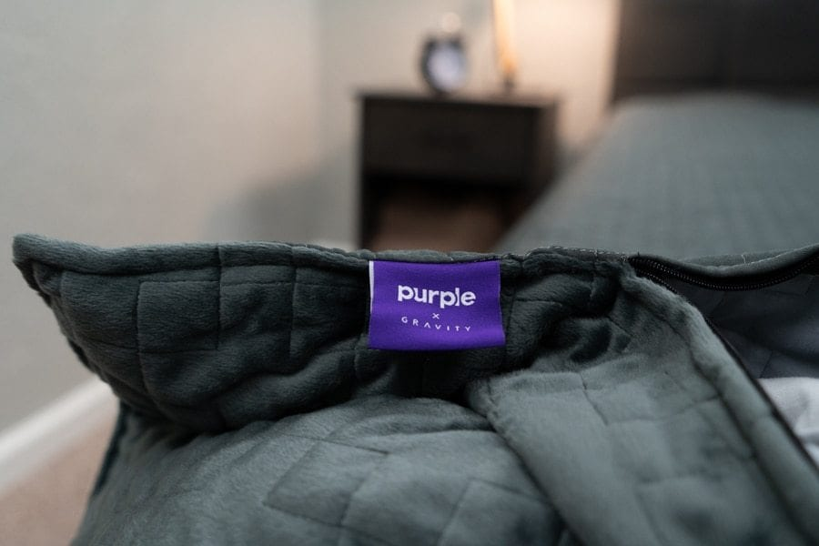 Purple Gravity Blanket Review Tag
