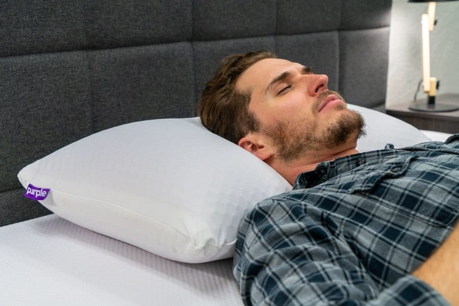 Purple Harmony Pillow Review Back Sleeper