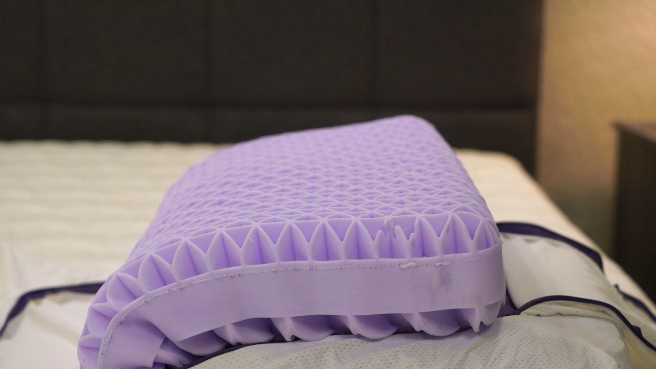 purple pillow review grid hyper elastic polymer