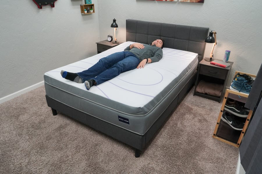 ReST With Purple Mattress Review Back Sleeper Example