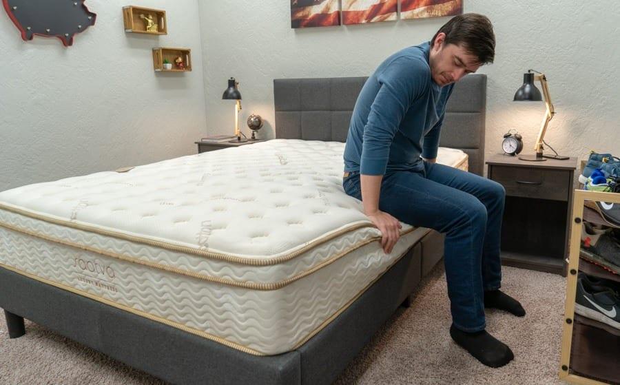saatva mattress review edge support