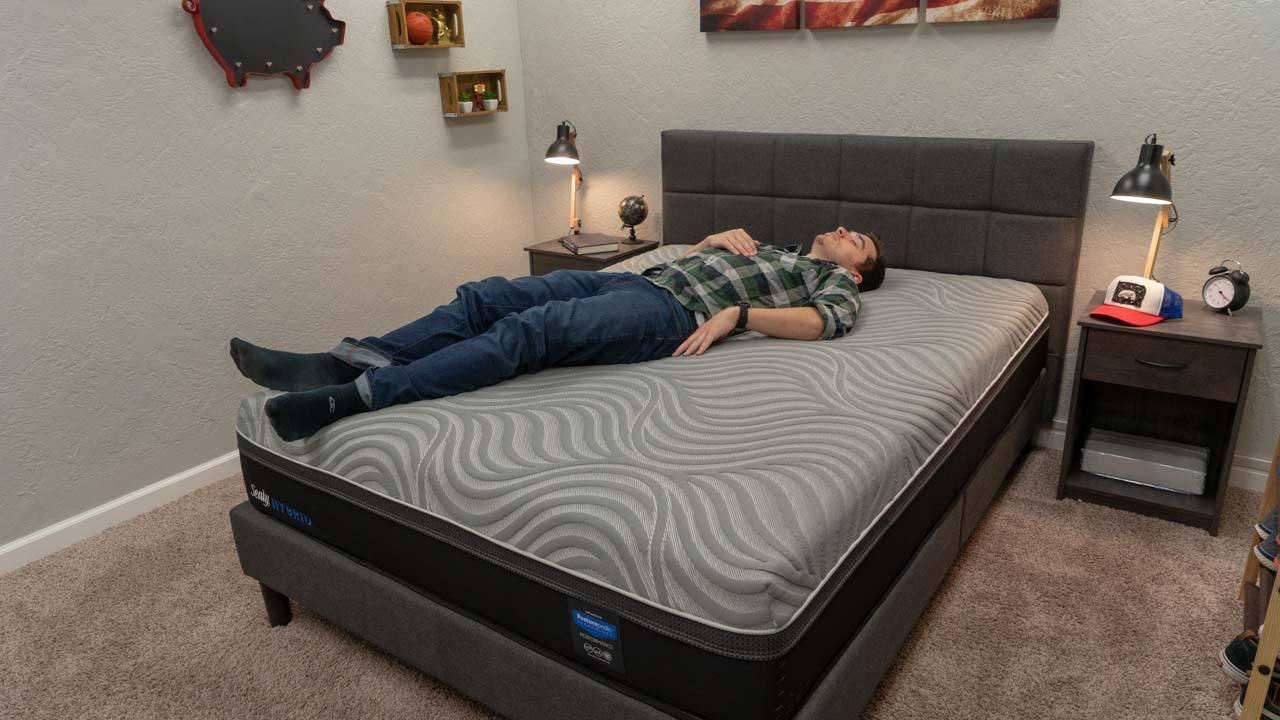 sealy posturepedic mattress review hybrid kellburn deal promo code discount back sleepers