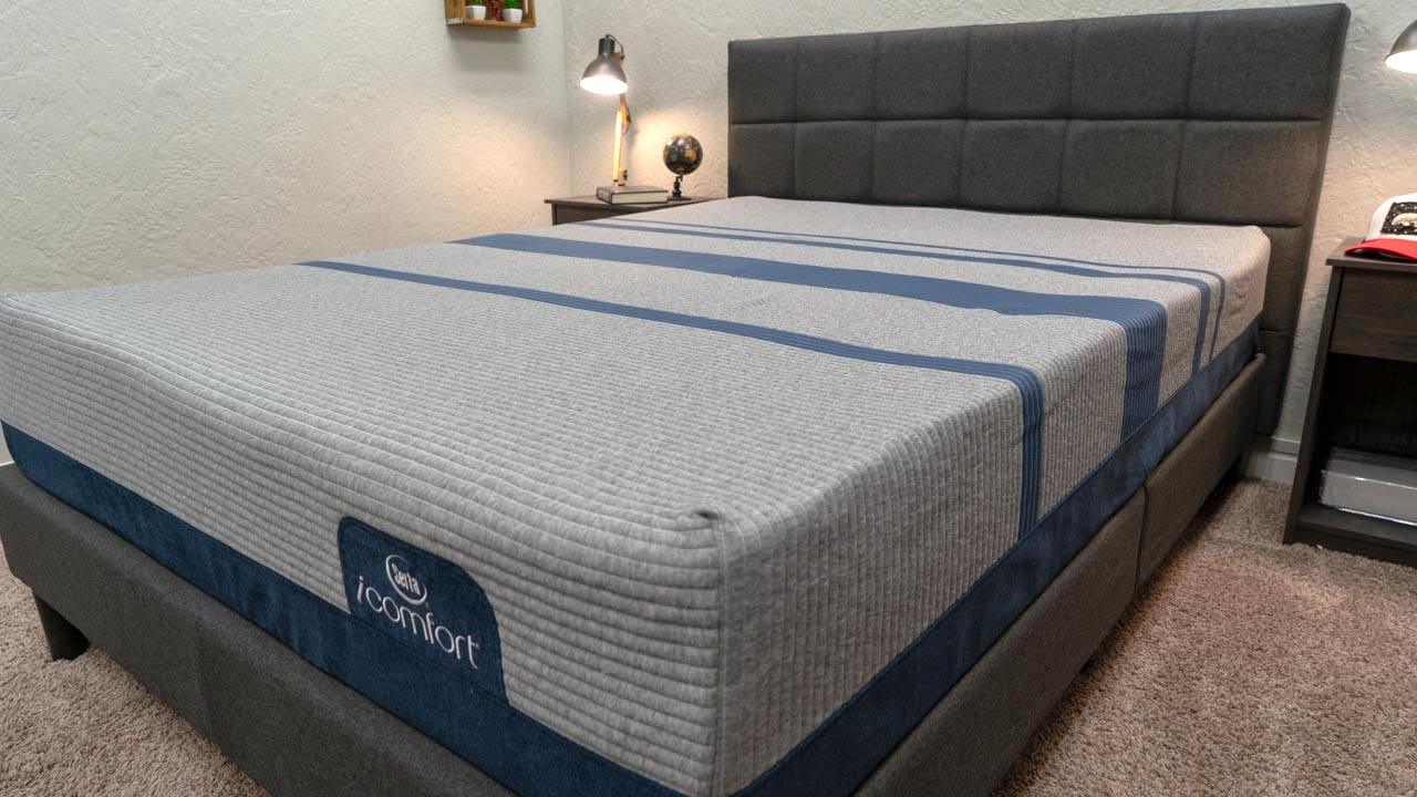 serta icomfort review max blue mattress cover