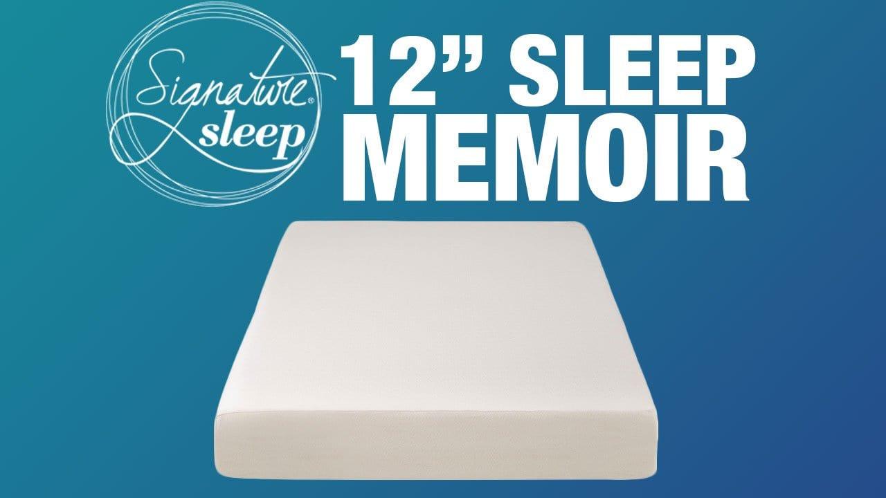 Signature Sleep Memoir Mattress Review Updated 2020