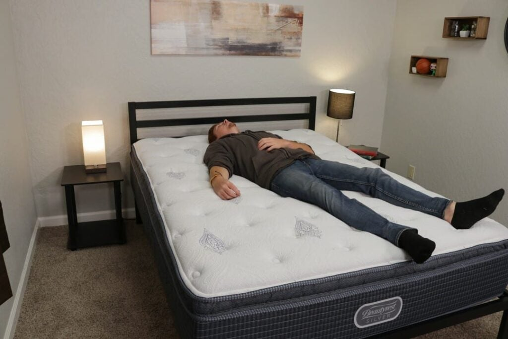 Simmons Beatyrest Silver Mattress Back Sleeper