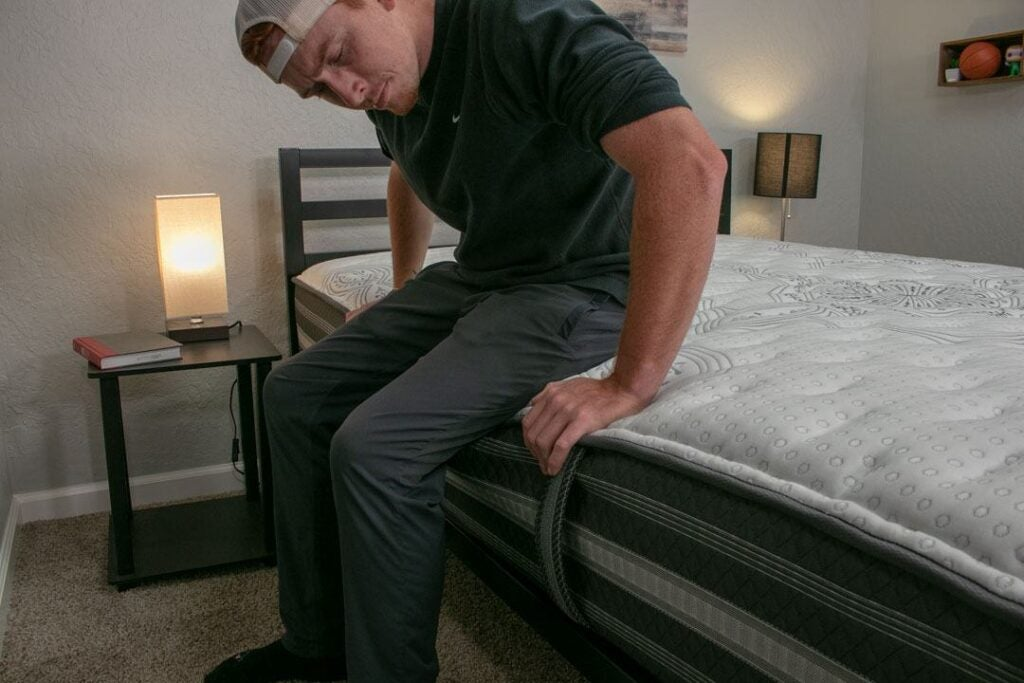 black calista mattress edge support