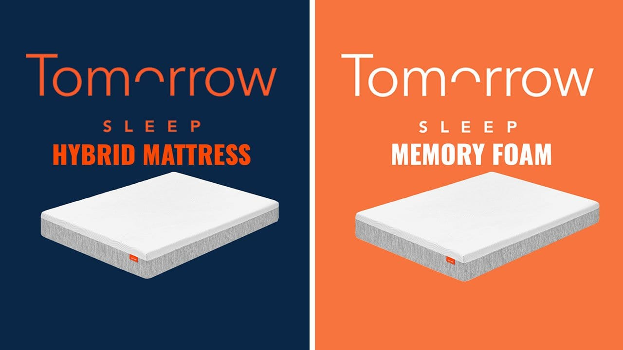 tomorrow sleep mattress comparison memory foam vs hybrid video. Black Bedroom Furniture Sets. Home Design Ideas