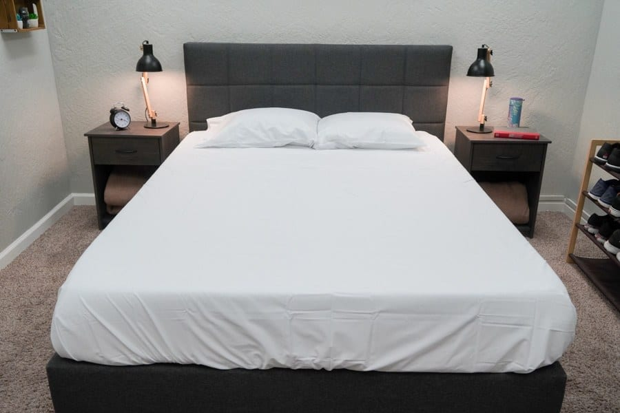Tuft Needle Bed Sheets Review Percale Overhead