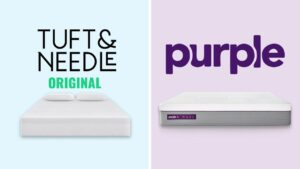 tuft and needle vs purple mattress review