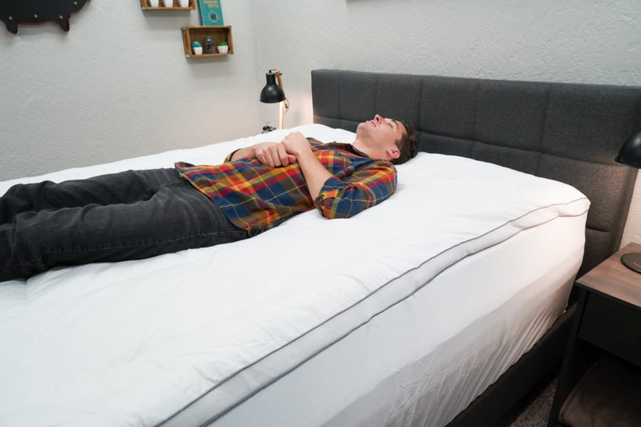 ViscoSoft Serene Hybrid Topper Review Back Sleeper