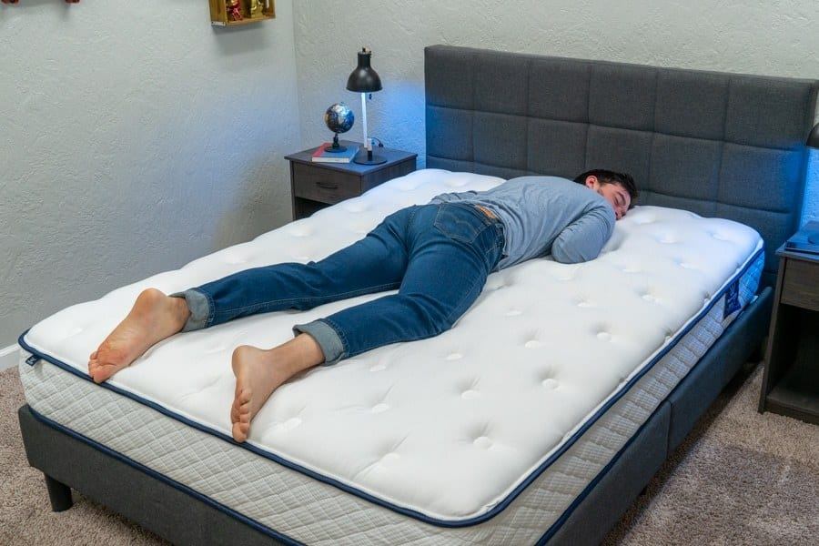 WinkBed MemoryLux Mattress Review Stomach Sleeper