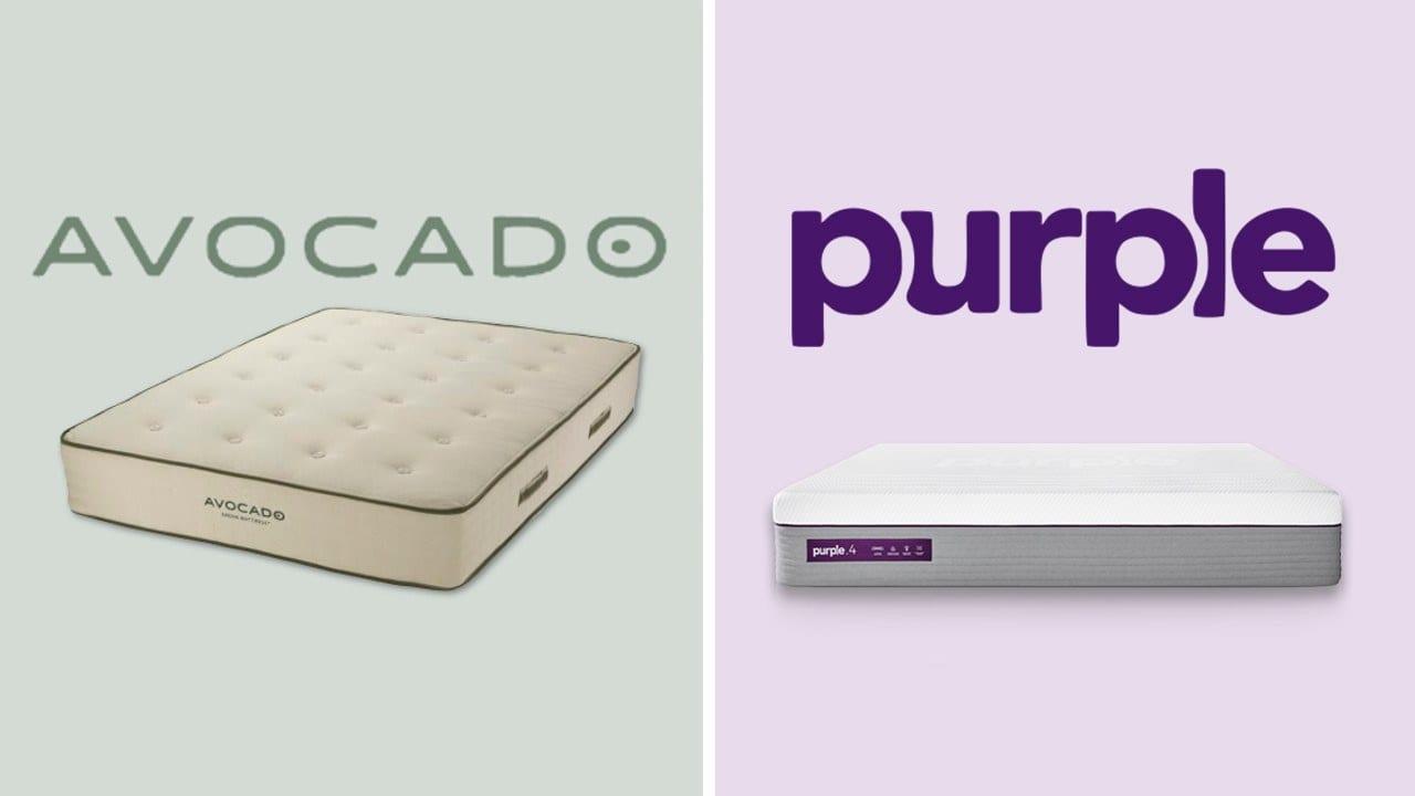 avocado vs purple mattress review bed in a box