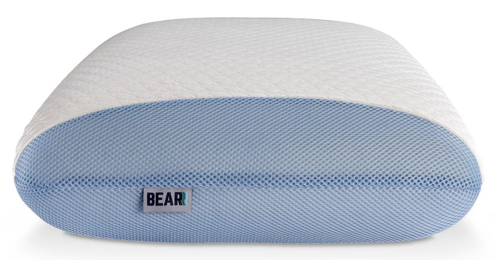 bear pillow review side view with ventilated mesh