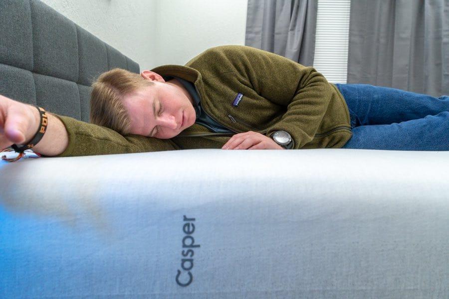 casper wave mattress review hybrid zoned support