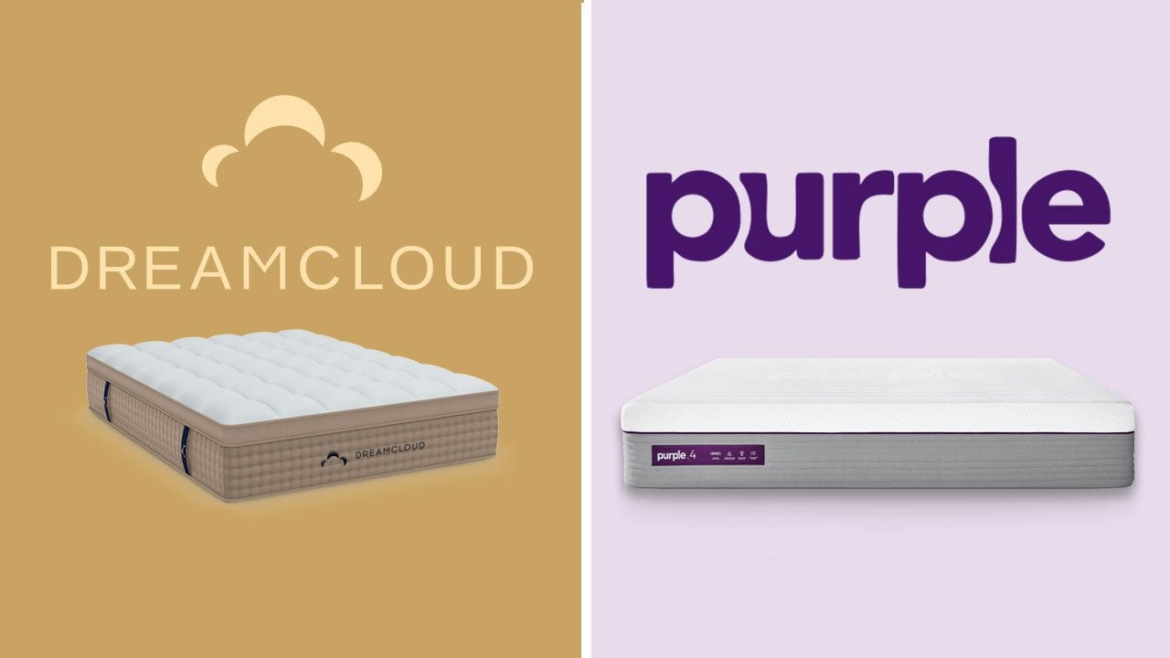dreamcloud vs purple mattress review and comparison online bed in a box