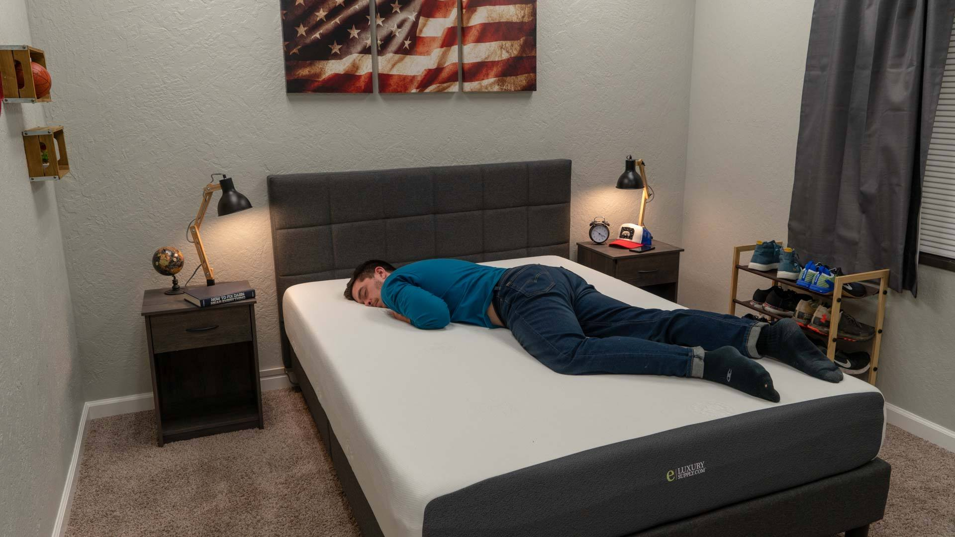eluxury mattress review stomach sleeper