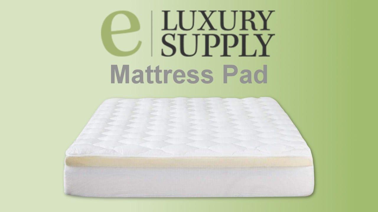 eluxury supply mattress topper pad review bamboo amazon