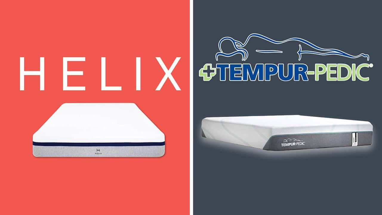 helix vs tempurpedic mattress review for sleep
