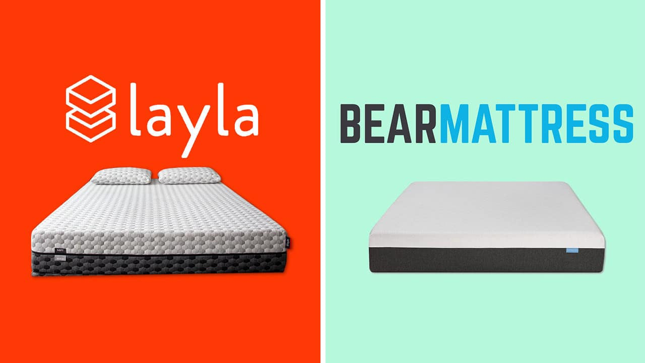 layla vs bear mattress review and comparison