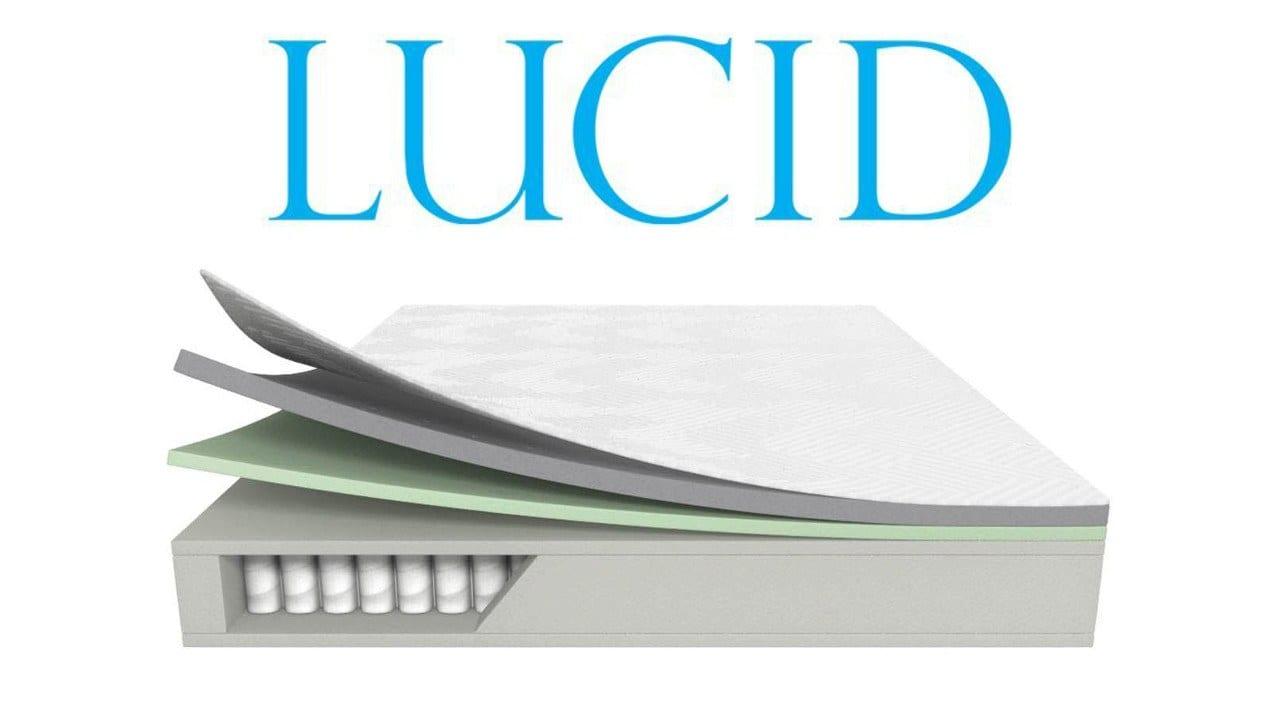 """Lucid 10"""" Memory Foam Hybrid"""