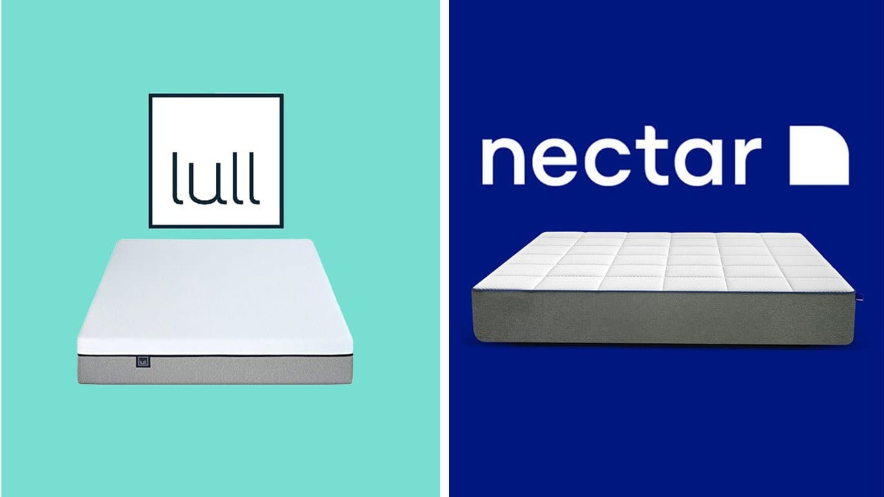 lull vs nectar mattress review and comparison bed in a box