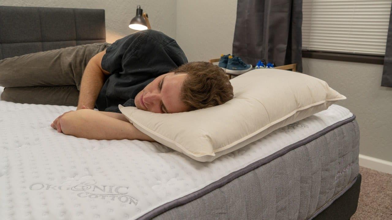 malouf z down pillow review side sleeper