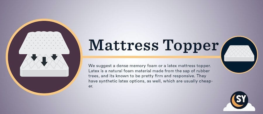 how to make a mattress firmer mattress topper