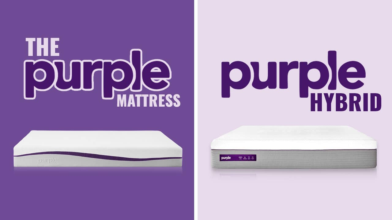 purple hybrid vs original mattress review