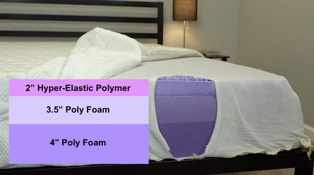 purple mattress review construction and layers of original bed