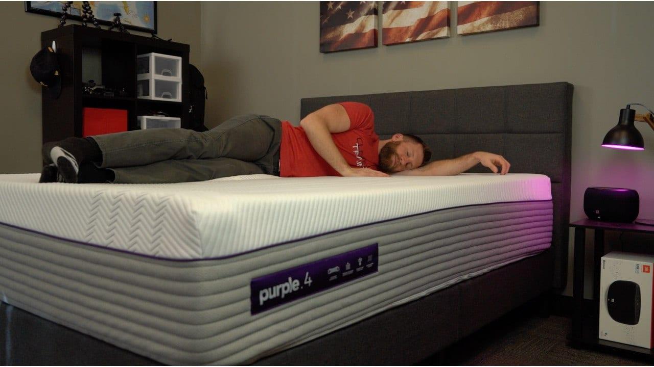 purple mattress side sleeper