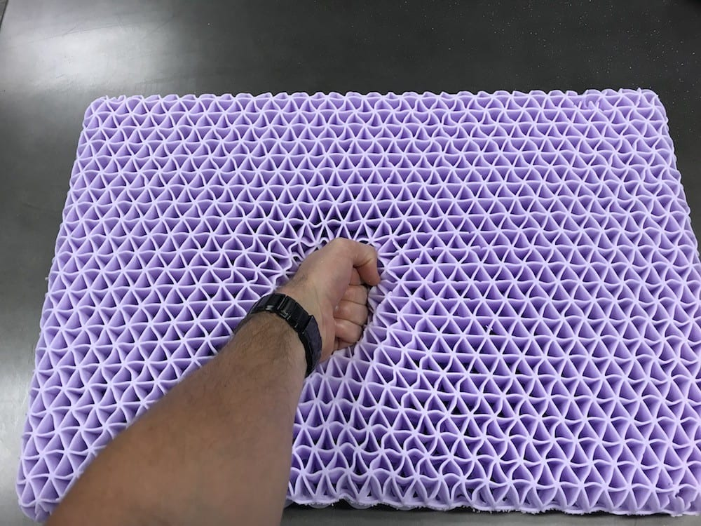 purple pillow review grid hyper elastic polymer