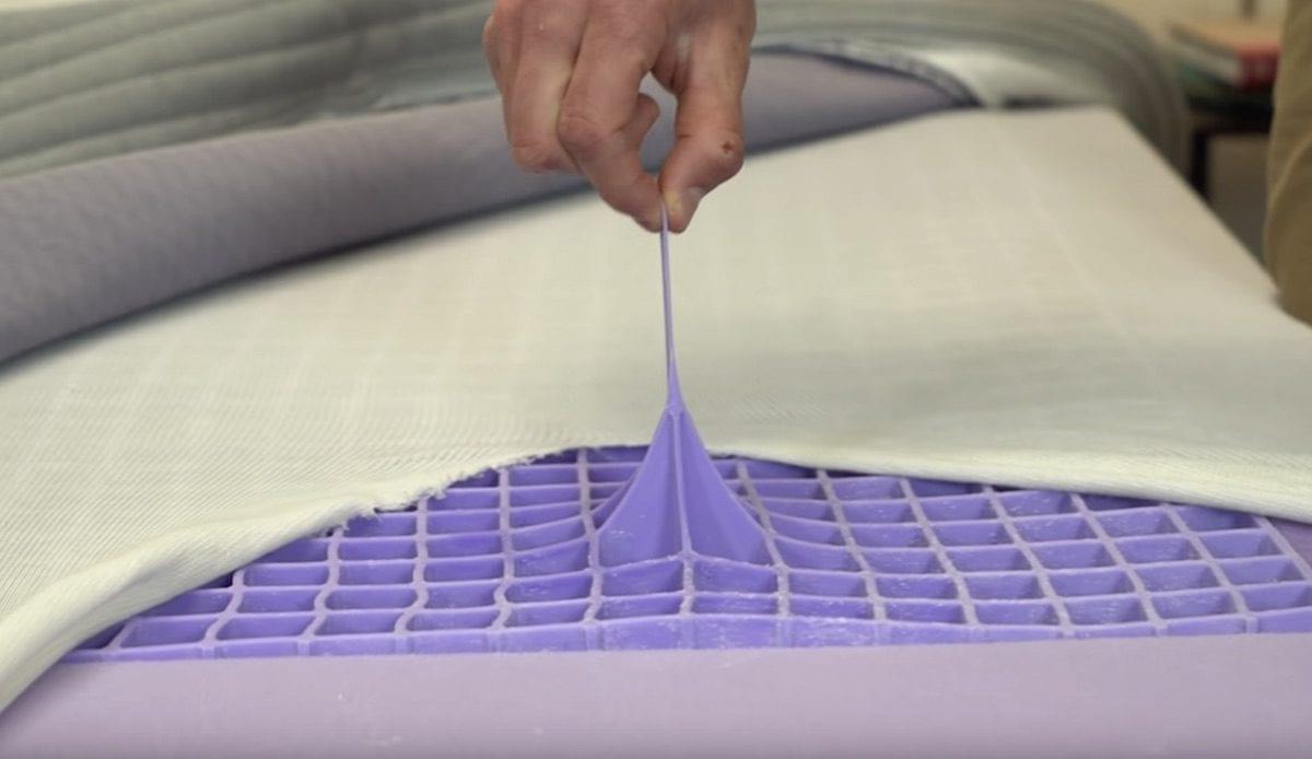 purple mattress topper hyper elastic polymer
