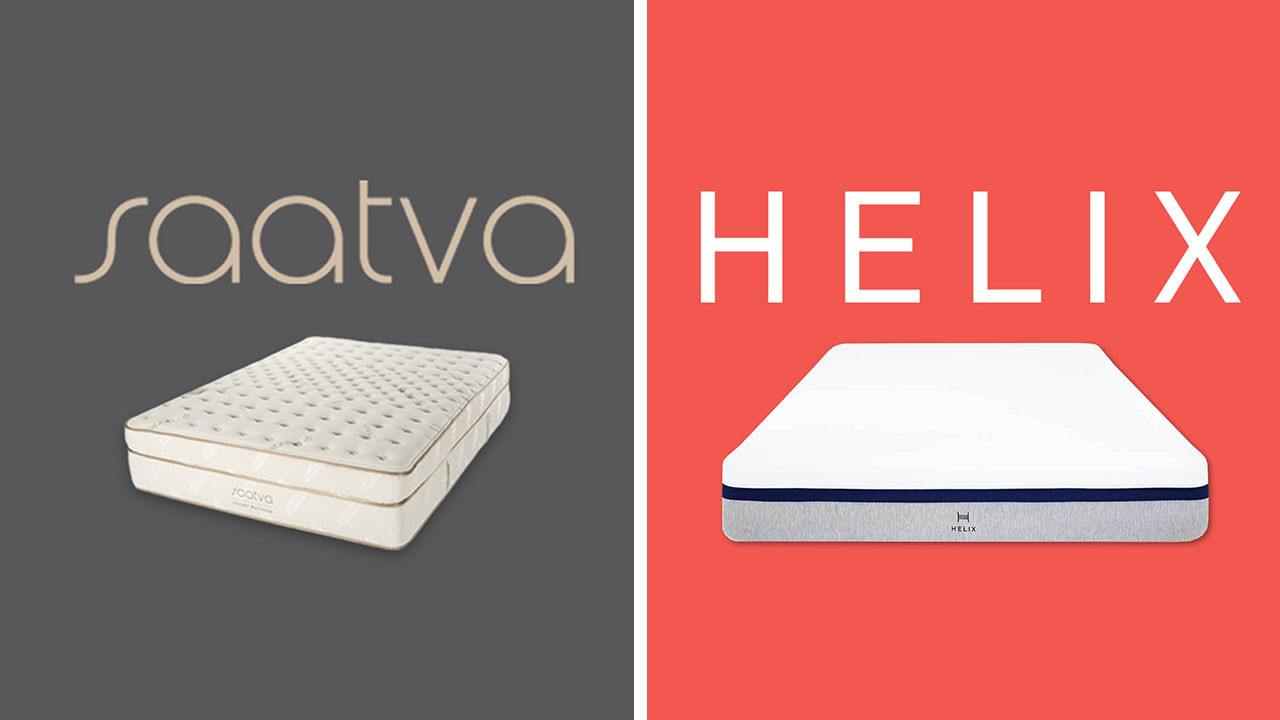 saatva vs helix mattress review online bed