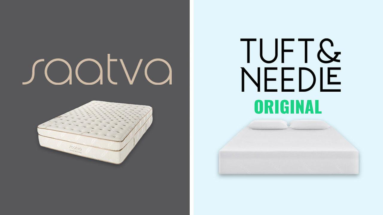 saatva vs tuft and needle mattress review and comparison online deal